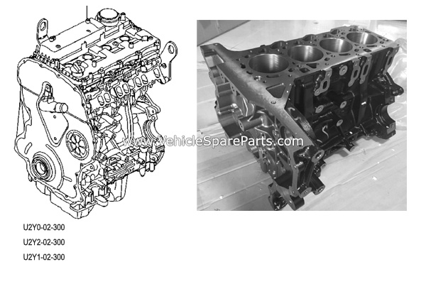 U2Y2-02-300,Genuine Mazda BT50 Ford Ranger Engine Assy,U2Y1-02-300